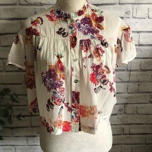 Free People Sweet Escape crop button down crop